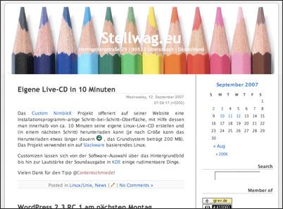 Neuer Header auf Stellwag.eu #2